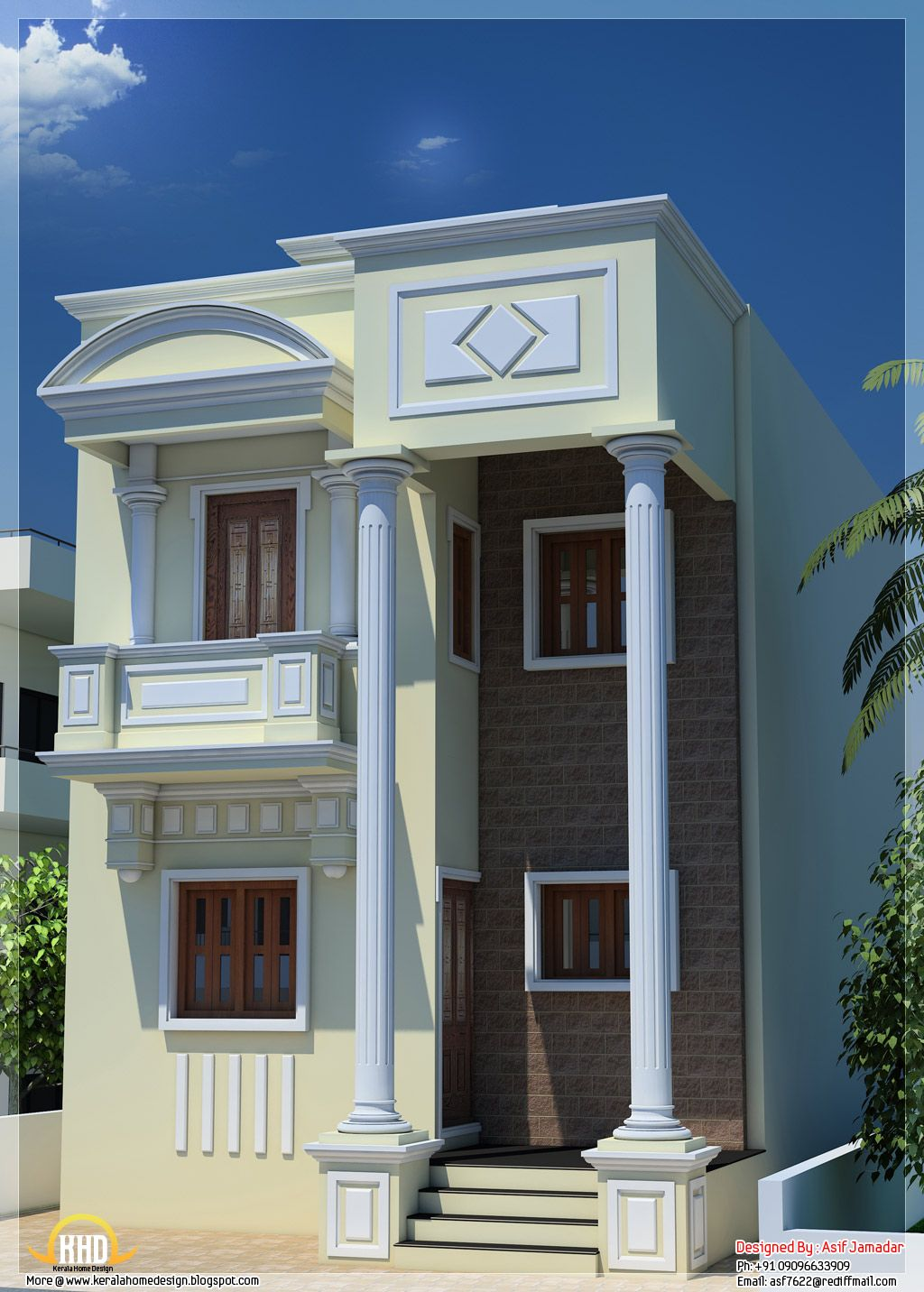 Superb Front Design Of Narrow House Part - 5: Narrow House Design | Home Ideas