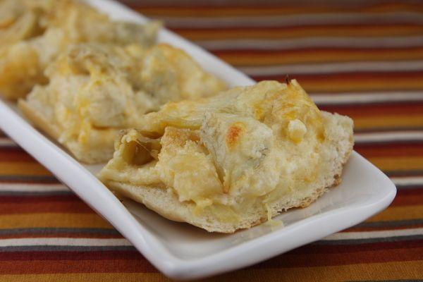 cheese & artichoke bread bites