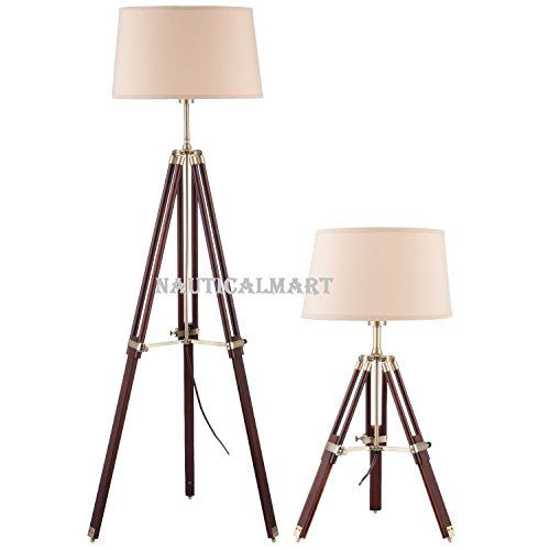 Tripod Adjustable Lamp Set Floor Lamp And Table Lamp Classic Home Lamps With Wooden Stand 65288 Lamp Set 65289 Adjustable Lamps Floor Lamp Lamp