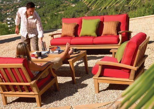 Amazing Teak Deep Seating Patio Furniture Teak Patio Furniture Watsons Fireplace  And Patio