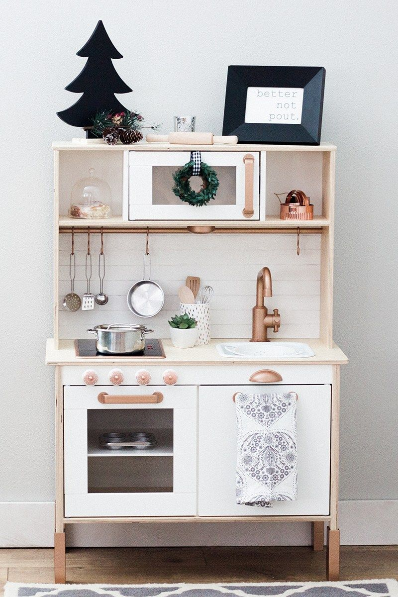 Sycamore Bluff Ikea Duktig Diy Play Kitchen Re Design Get Tips And Tricks On Taking This Adorable Ikea Diy Play Kitchen Ikea Kids Kitchen Ikea Play Kitchen