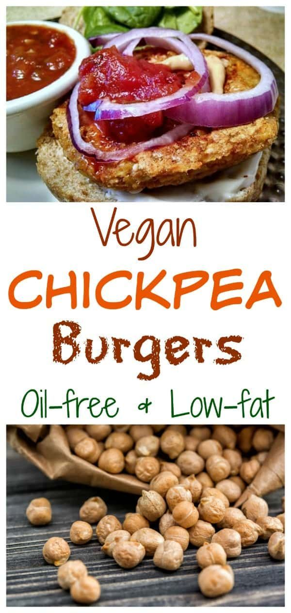 Vegan Chickpea Burgers Many people have never even heard of  chickpea burgers, and that needs to change. With warm spices like cumin, curry, smoked paprika, bulgur, and a ton of veggies, these pan-seared chickpea burgers will not disappoint!