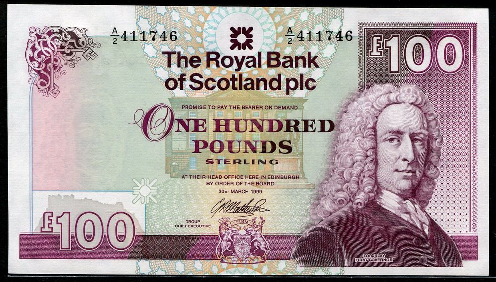The Royal Bank Of Scotland Banknotes 100 Pounds Note In 2019