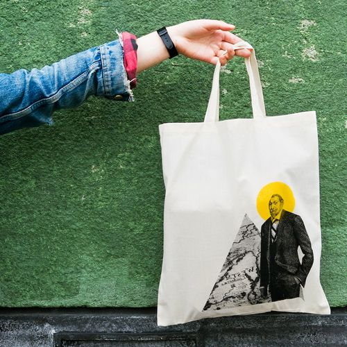Love the print on this tote bag.