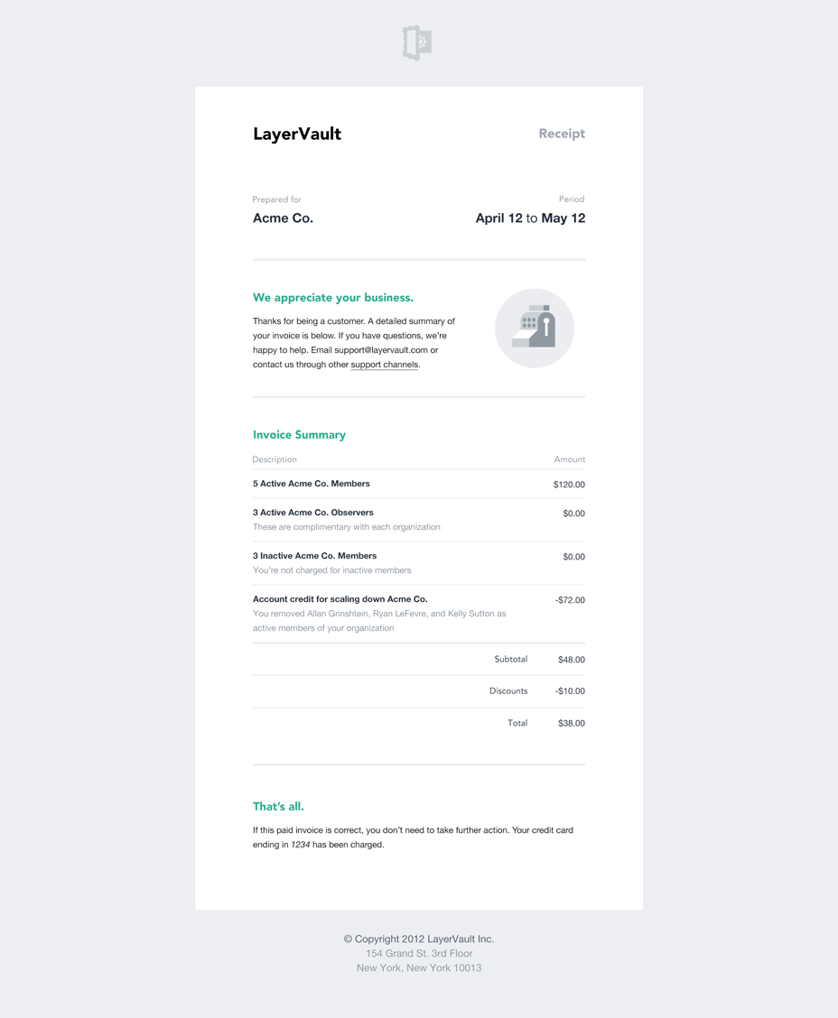 Dribbble Invoice Png By Allan Grinshtein Invoice Design Email Template Design Email Newsletter Design