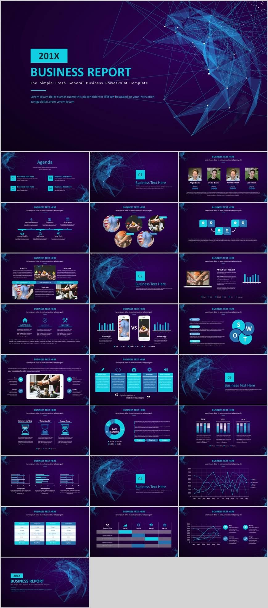 Blue star proposal for services PowerPoint template