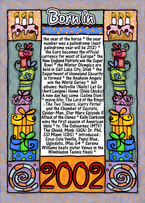 Fun Facts Birthday 2002 card