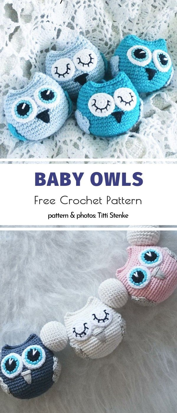 Lucky Charm Amigurumi Owls Free Crochet Patterns
