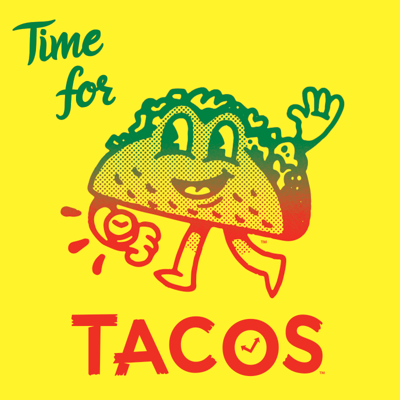National Taco Day Graphic Design Illustration Cute Funny Pics Illustration Design