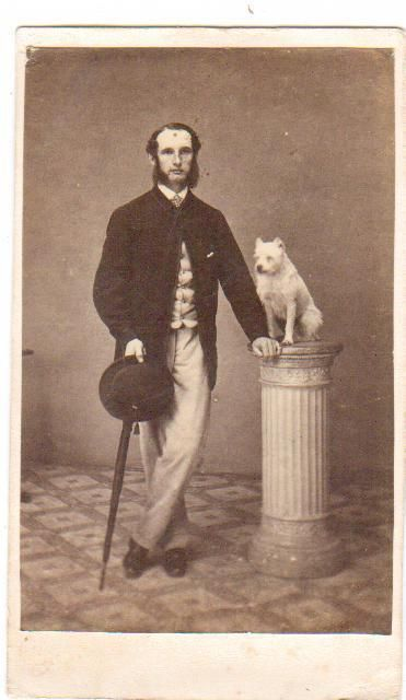 Carte De Visite Man With Dog On Plinth By Groom Shrewsbury Ebay With Images Man And Dog Shrewsbury
