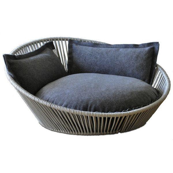 Siro Twist Ped Bed Grey Dog Bed Designer Dog Bed Luxury Dog Bed