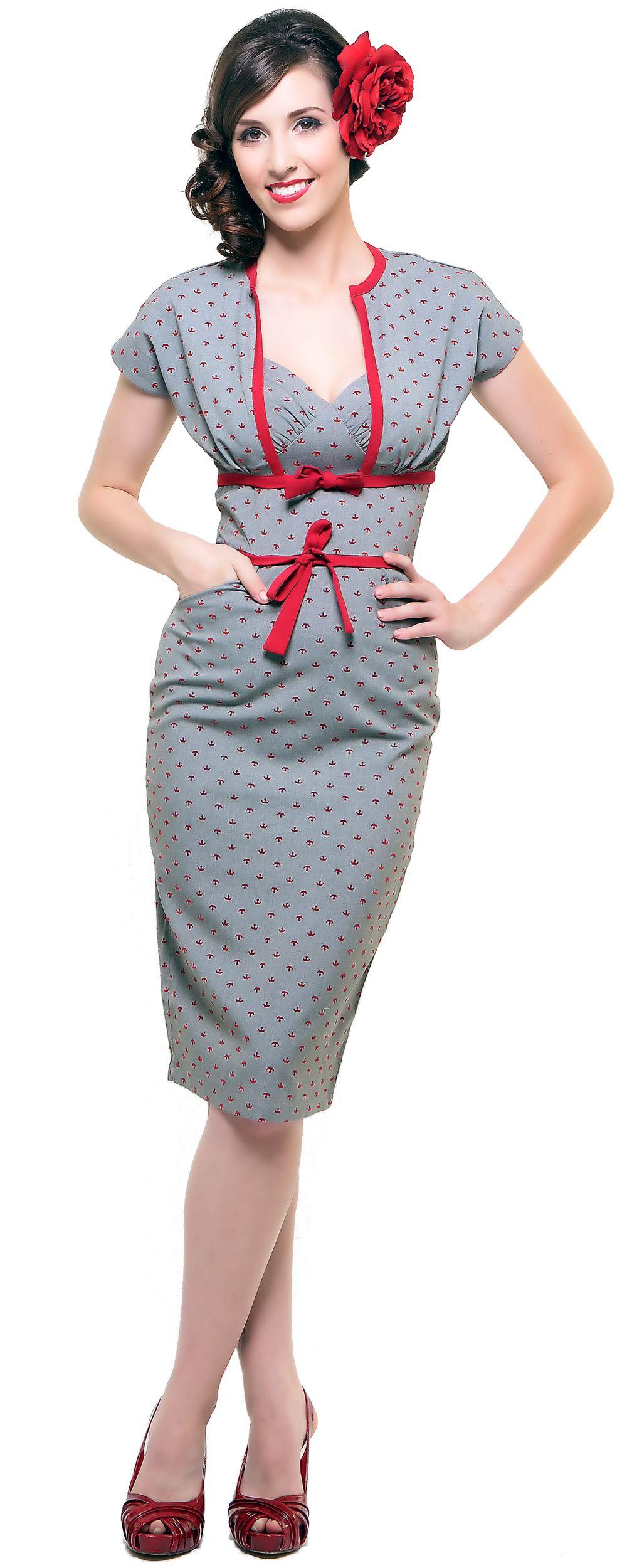 anchors pencil skirt with bolero dress unique vintage
