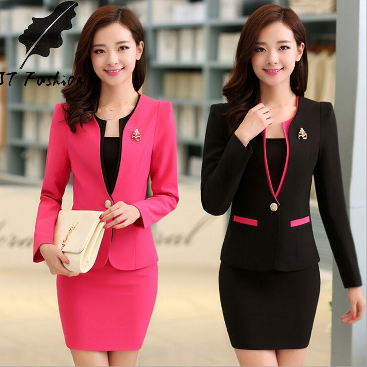 f4f58f7de4633 Cheap Skirt Suits, Buy Directly from China Suppliers: Name:ladies work  uniforms Material: 94% polyester + 4% spandex Size: S, M, L, XL,XXL,XXXL