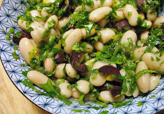 warm bean salad with fresh herbs and olives recipe. Black Bedroom Furniture Sets. Home Design Ideas