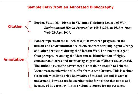 How To Write An Annotated Bibliography - The best estimate