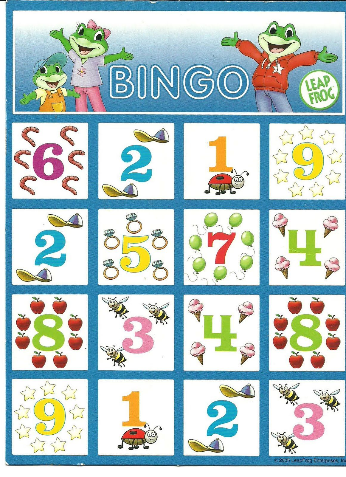 Printable Number Bingo Games - EnchantedLearning.com