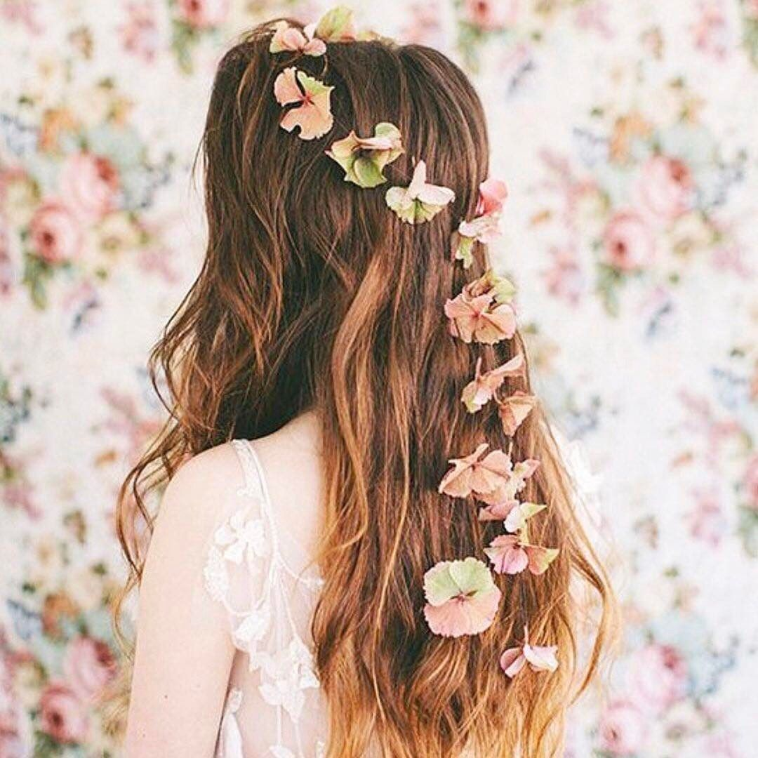 Rustic floral hair comb in pastel colors Romantic flower festival accessory Flower headpiece Bridesmaid Boho hair jewelry