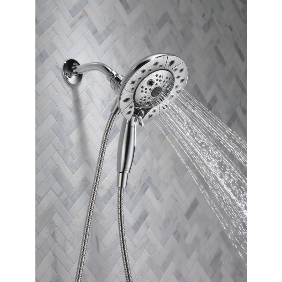 Delta Chrome 5 Spray Shower Head And Handheld Shower Combo At