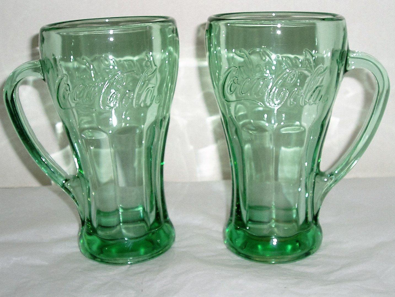 Coca Cola Glass Mug With Handle