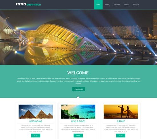 Mobile Website Templates 14 Free Travel Website Templates  Free Travel Website Templates