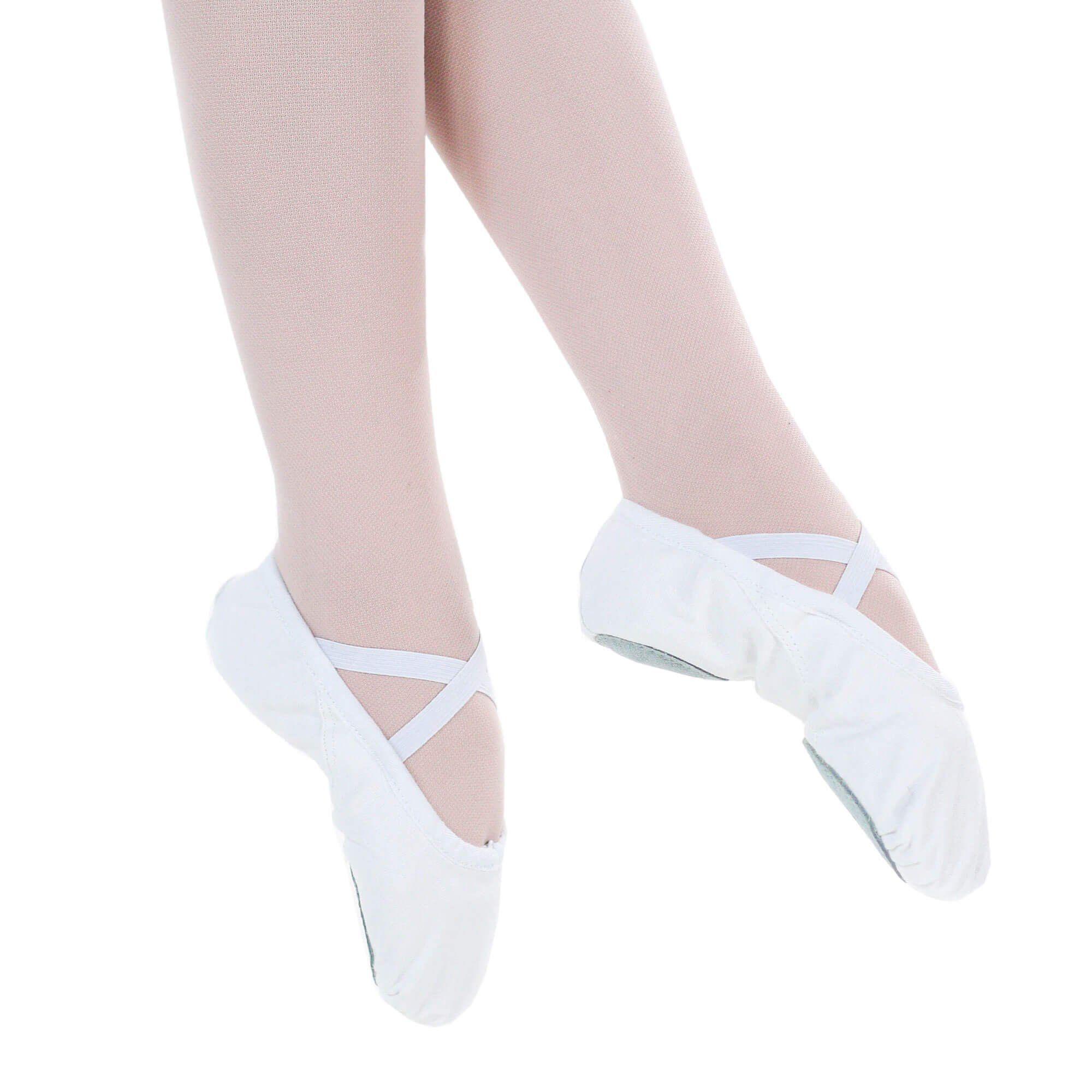 Danzcue Adult Split Sole Canvas Ballet Slipper