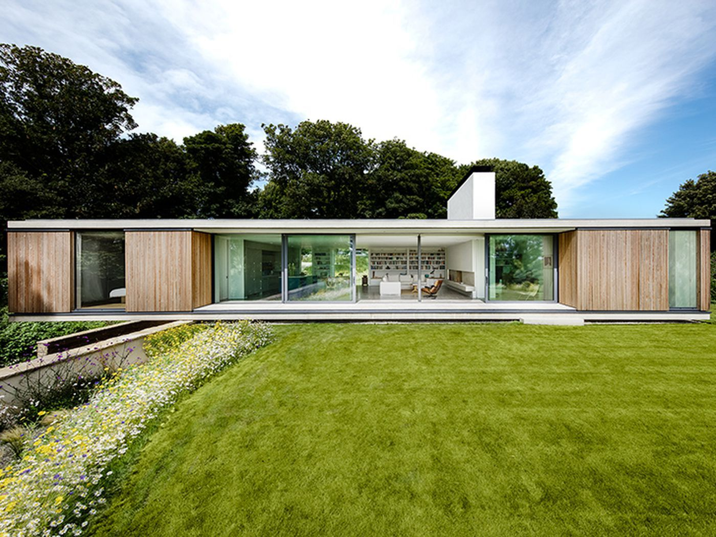 Modern House Cantilevers Over Stone Wall In England Curbed