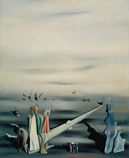 The Satin Tuning Fork Yves Tanguy Surréalisme peinture