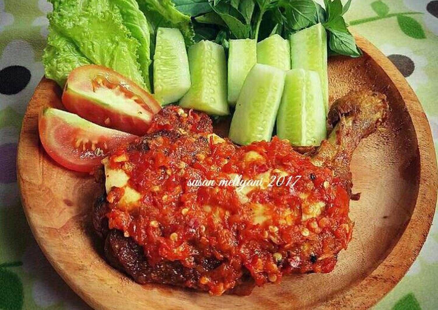 Resep Ayam Penyet Sambal Bawang Oleh Susan Mellyani Recipe Sambal Bengali Food Indonesian Food