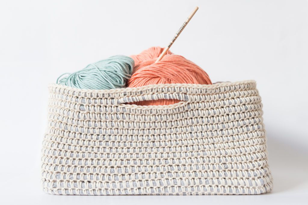 Free pattern: Crochet a cotton basket | Knit/Crochet | Pinterest ...