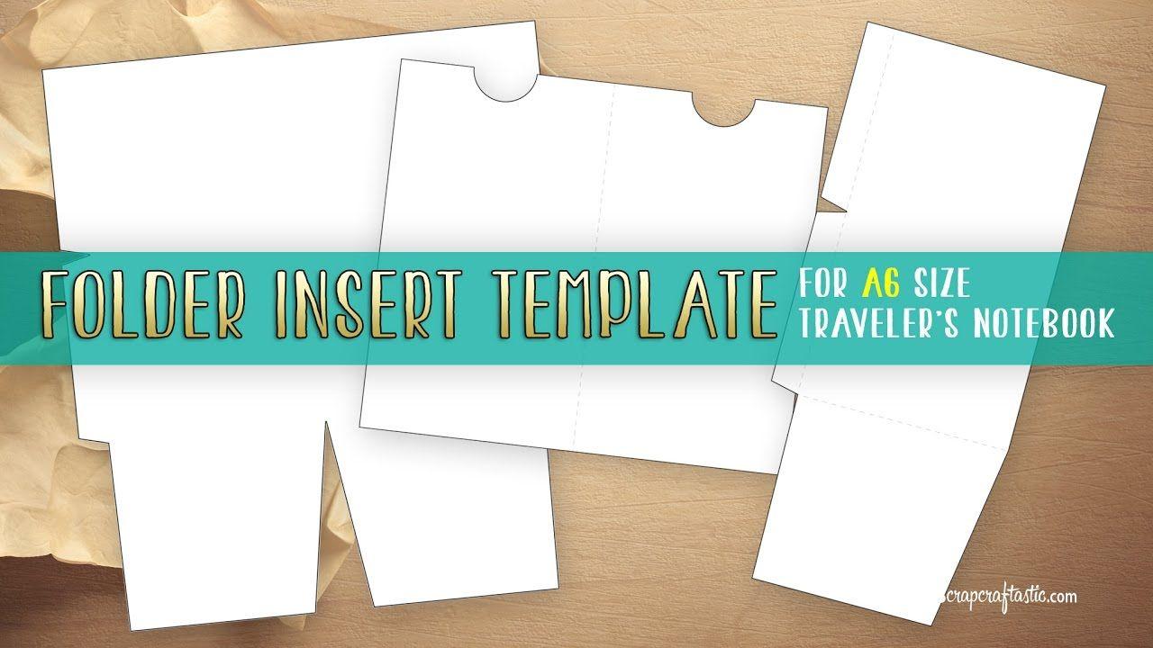 folder insert template for a6 size traveler s notebook traveler s