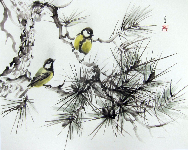 L Art Asiatique Art Japonais Encre De Peinture Sumi E Par