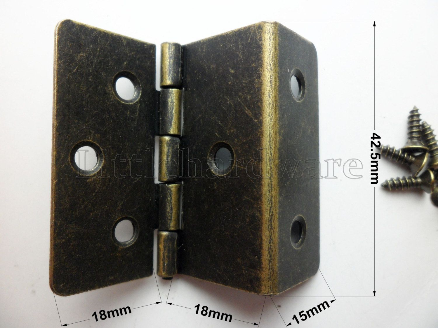 10 Pcs Chinese Classical Antique Brass Color 42 5mm Height Hinges Double Hinges Shutter Hinges Cabinet Hardware Vh0040 Antique Brass Brass Color Shutter Hinges