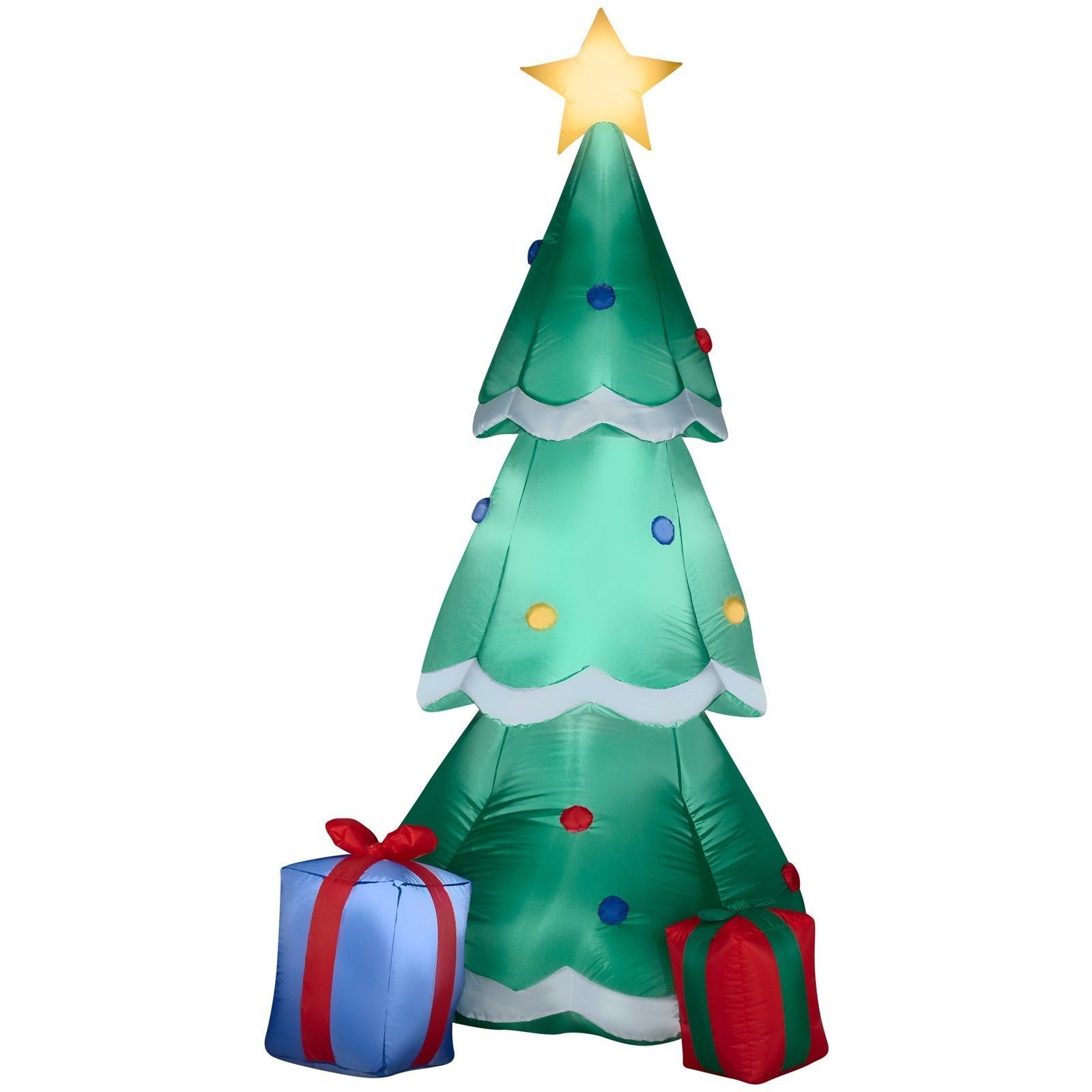 Airblown Christmas Tree With Presents Inflatable Outdoor Yard Decor -