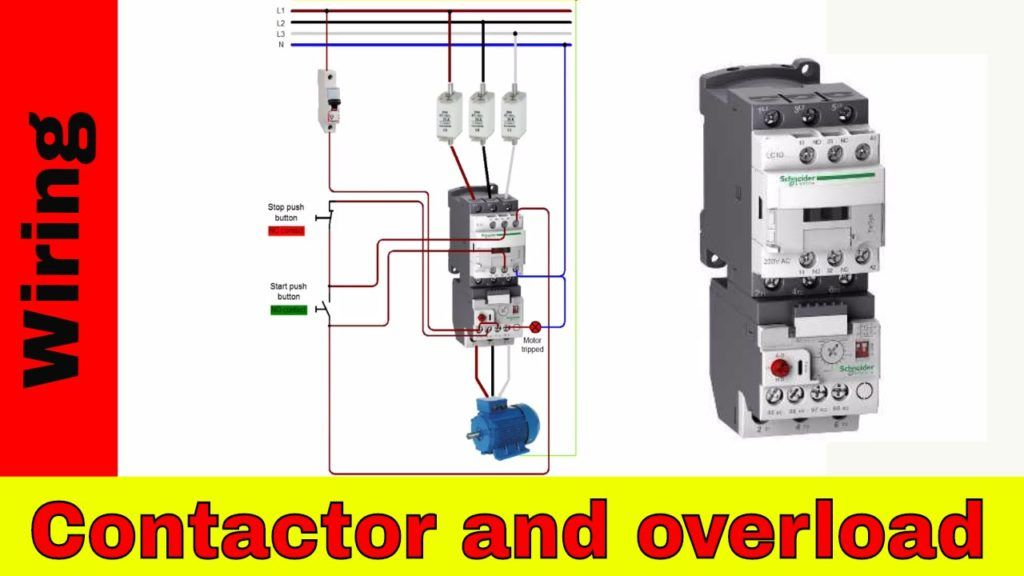 Maxresdefault For Contactor And Overload Wiring Diagr Electrical Circuit Diagram Diy Electrical Basic Electrical Wiring
