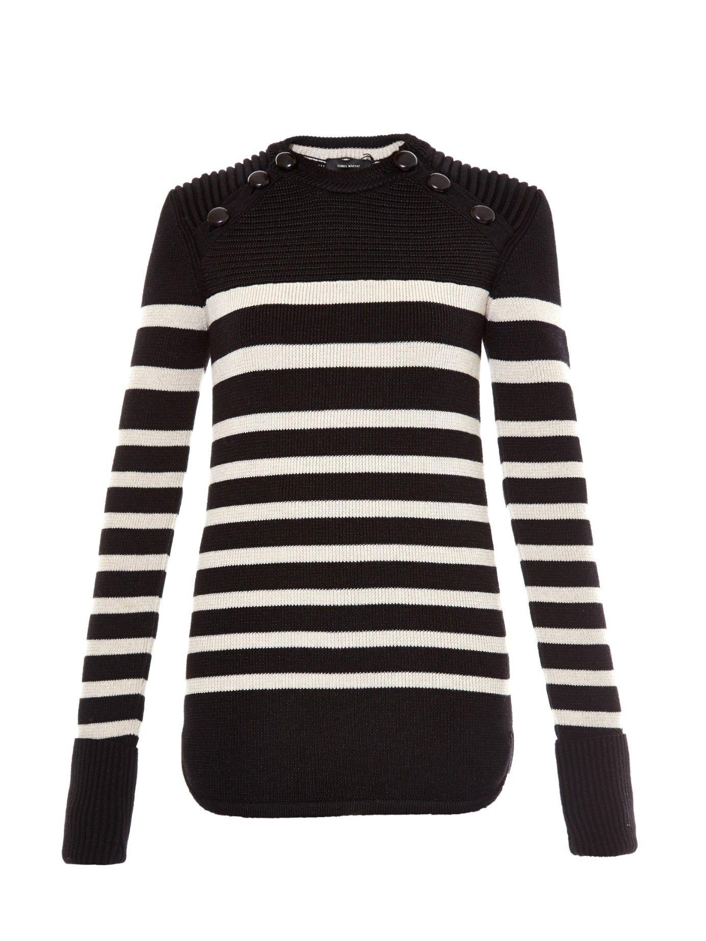 Hayward striped wool-blend knit sweater | Isabel Marant | MATCHESFASHION.COM US