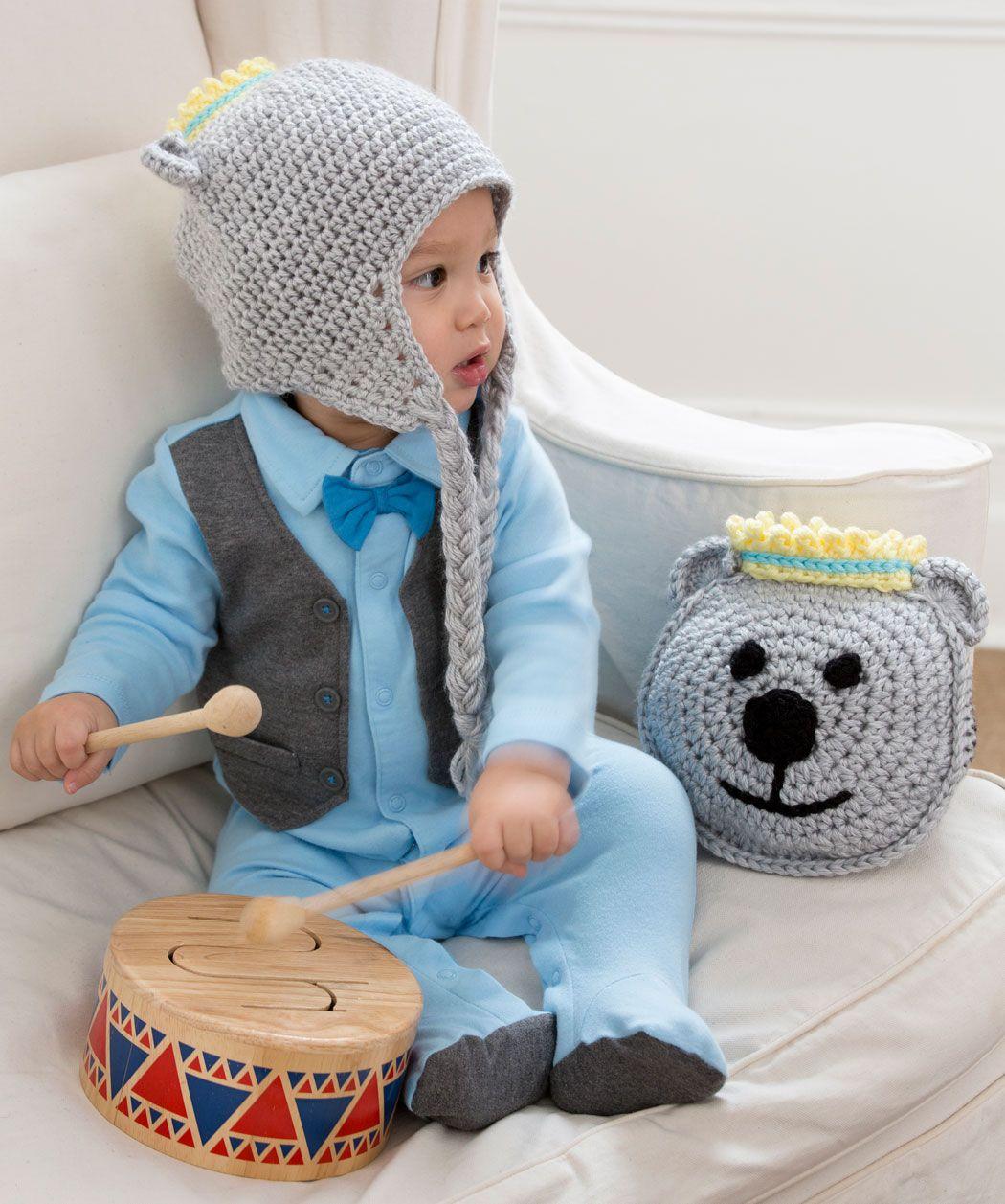 Bäriges Kissen und Mütze | Baby Boy hats | Pinterest | Mütze, Kissen ...