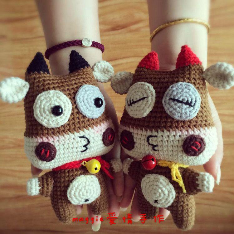Июнь McDull любят оригинальные куклы иллюстрации говядина Graphic вязания крючком куклы графики - глобальная станция Taobao