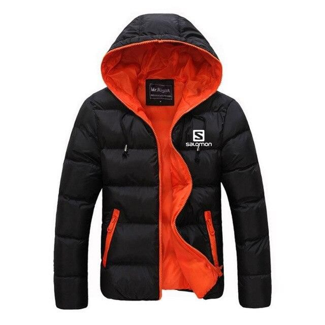 Mens Salomon Black Ski Jacket Large Double Layer Size Large Light Parka