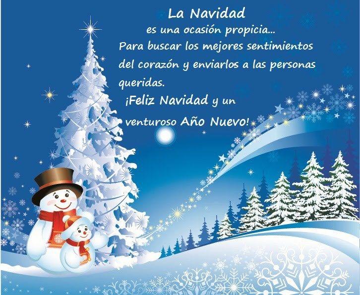 Muñecos De Nieve Con Mensajes De Navidad Imagenes De Feliz
