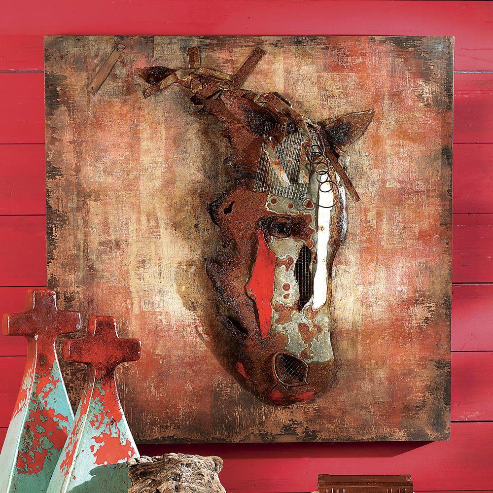 war horse 3 d wall hanging clearance garden art pinterest
