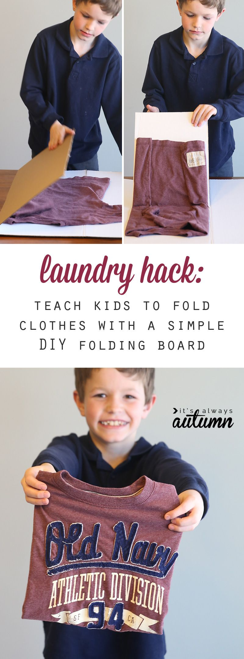 teach kids to fold laundry with this simple hack Kids