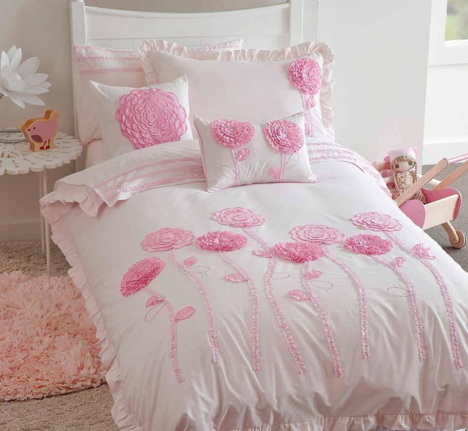 Pony Park Horses Pink Girls Single Twin Bed Quilt Doona Cover Set