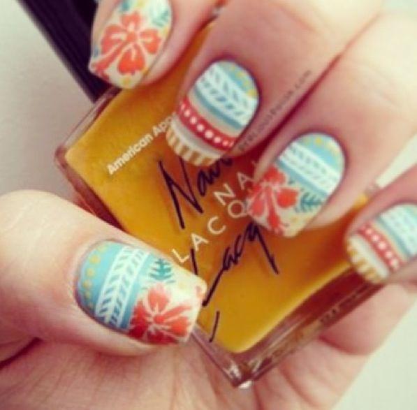 Hawaii themed nails | Hair, Skin, & Nails | Pinterest | Hawaii ...