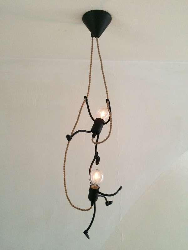 Lamp Lampje Uniek En Sfeervol Handgemaakt Design Foto S Klimlampje Duo Zelfgemaakte Lampen Doe Het Zelf Interieur Lampen