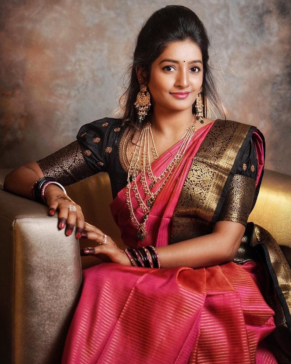 The Layered Necklace Trend That Is Here To Stay Silk Saree Blouse Designs Patterns Silk Saree Blouse Designs Blouse Designs Silk