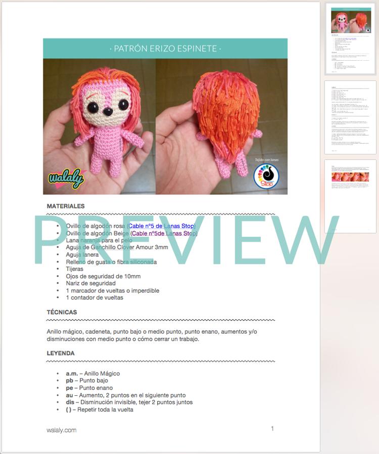 Patrón amigurumi espinete | Ideas Amigurumis | Pinterest | Patrones ...