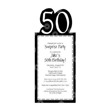 50th birthday party invitation template download instantly