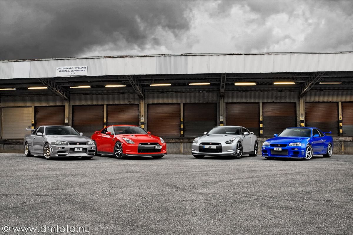Nissan GT R R35/R34; Then There Were Four.