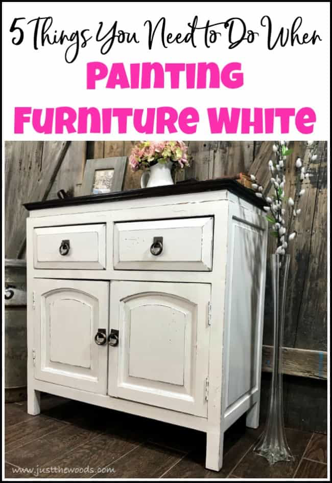 5 Things You Need to Do When Painting Furniture White