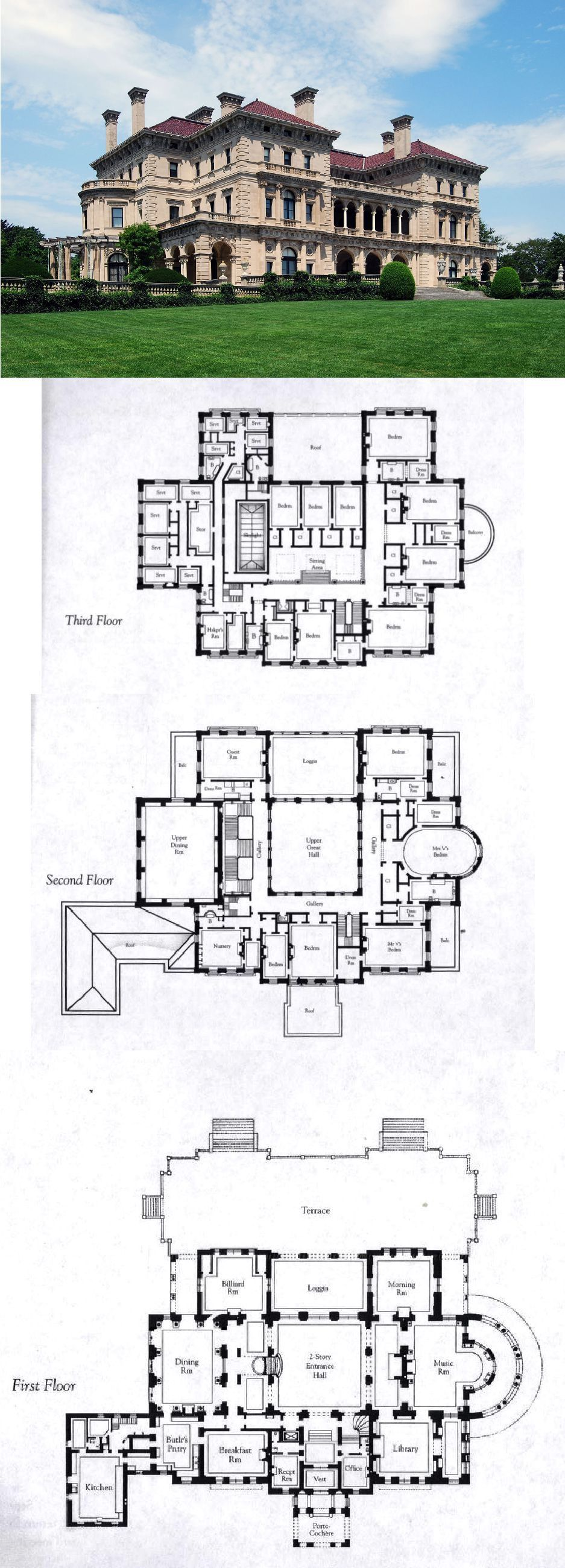Floorplans For Gilded Age Mansions Skyscraperpage Forum The Breakers Newport Rhode Island House Plans Mansion Mansion Floor Plan Castle Floor Plan